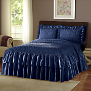 Velvet Quilted Bedspread and Sham