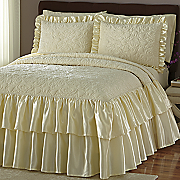 velvet quilted bedspread