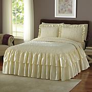 Velvet Quilted Bedspread and Sham