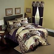 Leopard Comforter Set and Window Treatments