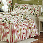 Butterfly Quilted Bedspread, Sham and Window Treatments
