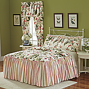 butterfly quilted bedspread  sham and window treatments