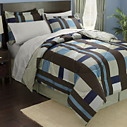 Manhattan Plaid Complete Bed Set and Window Treatments