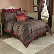 Sevilla 6-Piece Bed Set, Decorative Pillows and Window Treatments
