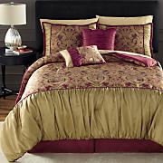Rivoli Jacquard 10-Piece Bed Set, Panel Pair and Valance