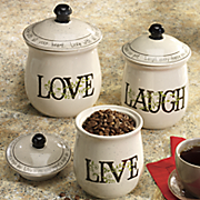 3 pc  sentiments canister set