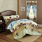 Running Horses Comforter Set and Window Treatments