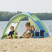 family beach cabana
