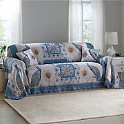 tiro de majestuoso pavo real tejido tapiz muebles