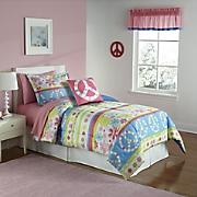Peace Mini Comforter Set and Valance