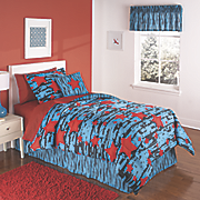 rock star complete bed set  pllow and valance