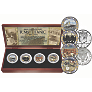 titanic 4 pcs coin set