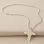 stainless steel men s cross pendant