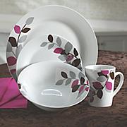 16-Piece Autumn Petals Dinnerware Set by Oneida