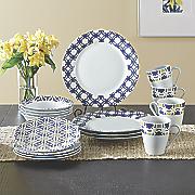 16-Piece Blue Capella Dinnerware Set by Oneida