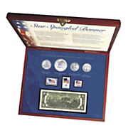 star spangled coin   stamp box set