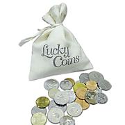 25 Lucky Coins in a Canvas Bag