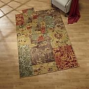 bordeaux patchwork 3 pc  rug set