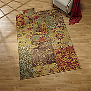 bordeaux patchwork 3 pc  rug set