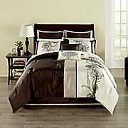 camellia faux silk 8 pc  bed set