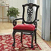 Distressed Vintage Carved Chair