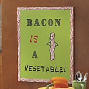 healthy bacon wall art