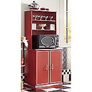 retro microwave cabinet