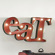 lighted eat wall art