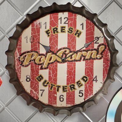 Popcorn Bottlecap Clock