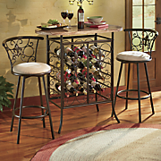 set of 2 fleur de lis swivel bar stools