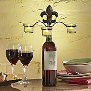 fleur de lis wine stopper candleholder