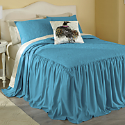 Pavone Skirted Coverlet, Shams and Pillow
