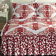 ombre damask bedspread