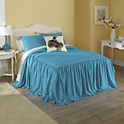pavone skirted coverlet  shams and pillow