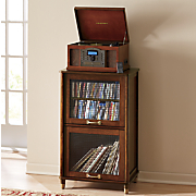 vinyl record stereo cabinet