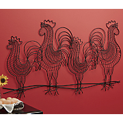 wire roosters 3 d wall art
