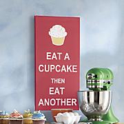 eat a cupcake art