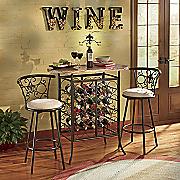 Fleur-De-Lis Wine Storage Bistro Table