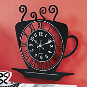 Steaming Coffee Cup Clock