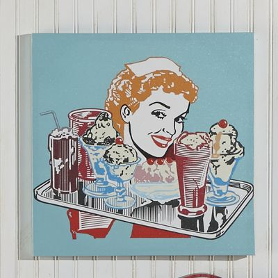 Ice Cream Girl Wall Art