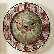 Regal Rooster Clock