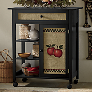 burlap apple kitchen cart