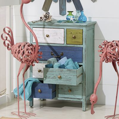 Beach House Distressed Cabinet