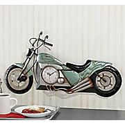 3-D Motorcycle Clock