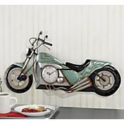 3 d motorcycle clock