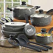 Chef Tested® 14-Piece Spattered Aluminum Cookware Set by Montgomery Ward®