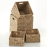 s 4  nesting water hyacinth baskets