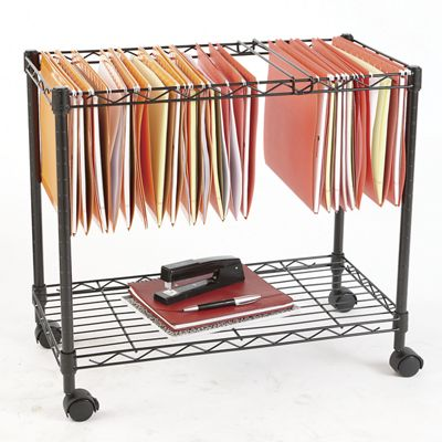 Single Tier Rolling File Cart