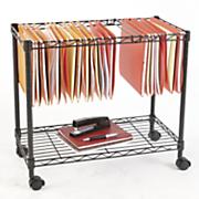 single tier rolling file cart
