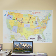 USA Peel and Stick Dry Erase Map